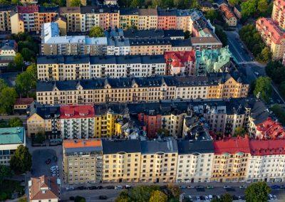 Stockholm i luftballong