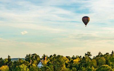 Stockholm i luftballong sept 2016