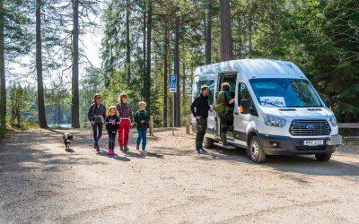 Fotografering av Tivedsbussen