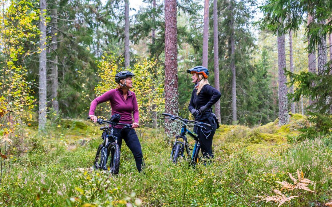 Fotografering av cykelleder i Tiveden